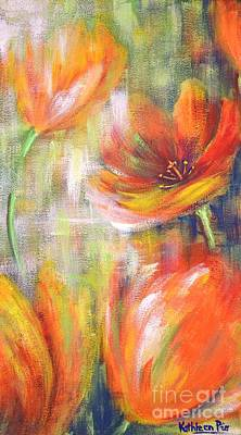 Art Print featuring the painting Tulip Freedom by Kathleen Pio