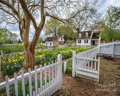 Tulip Garden Colonial Williamsburg  Art Print