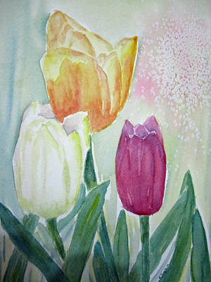 Tulips  Art Print by Elvira Ingram