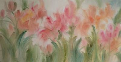Painting - Tulip Garden by Karen Ann Patton