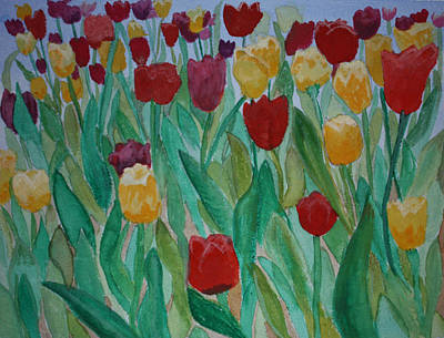Painting - Tulip Garden  by Kimber  Butler