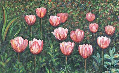 Tulip Painting - Tulip Garden One by Linda Mears