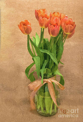Photograph - Tulip Impasto by Maggie Magee Molino