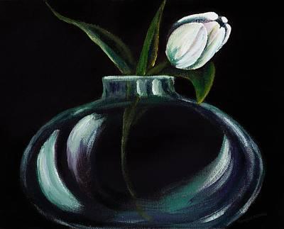 Tulip In A Vase Art Print by Georgia Pistolis