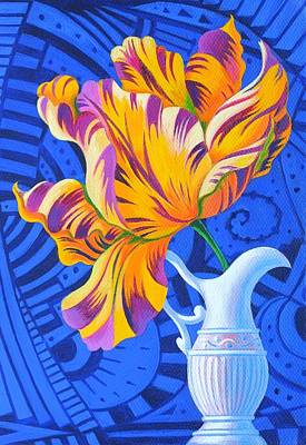 Multi Colored Painting - Tulip by Jane Tattersfield