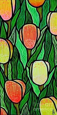 Art Print featuring the painting Tulip Joy 2 by Jim Harris