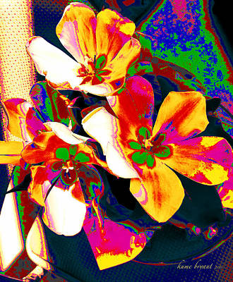 Mixed Media - Tulip Kisses Abstract 7 by Kume Bryant
