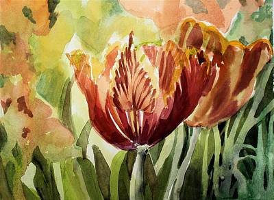 Painting - Tulip Light by Mindy Newman