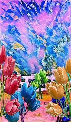 Digital Art - Tulip Masterpiece  by Gayle Price Thomas