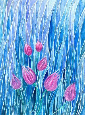 Painting - Tulip Patch by Adria Trail