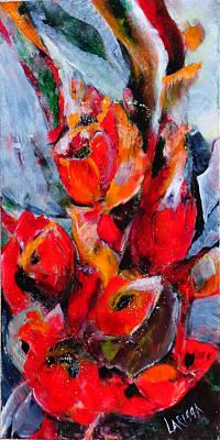 Wall Art - Painting - Tulip Rapsody by Larissa Pirogovski