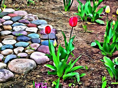 Photograph - Tulip Rock Garden by Beauty For God