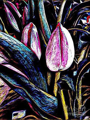Mixed Media -  Tulip Season by MaryLee Parker