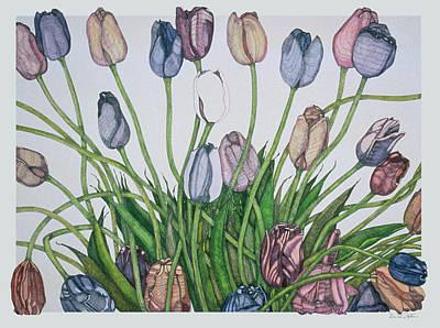Tulip Serenade  Art Print