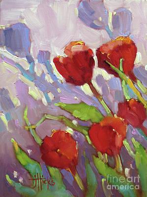 Painting - Tulip Shdows by Joyce Hicks
