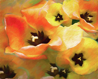 Mixed Media - Tulip Sheen 3  by Lynda Lehmann