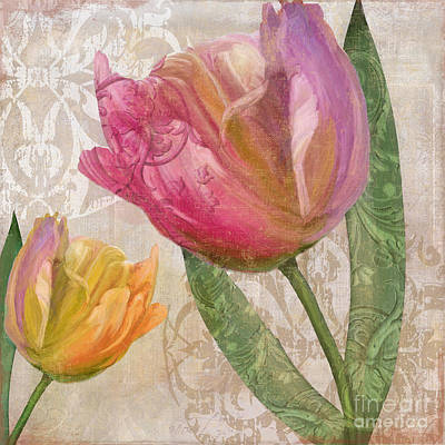 Warm Colors Painting - Tulip Tempest II by Mindy Sommers