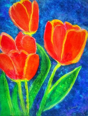 Painting - Tulip Time by Anne Sands