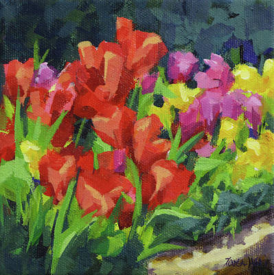 Painting - Tulip Time by Karen Ilari