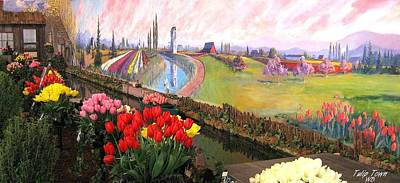 Photograph - Tulip Town 21 by Will Borden