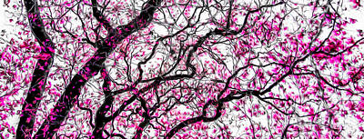 Photograph - Tulip Tree Abstracted 2 by Michael Arend