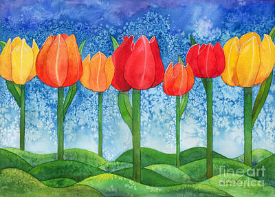 Painting - Tulip Trees Watercolor by Kristen Fox