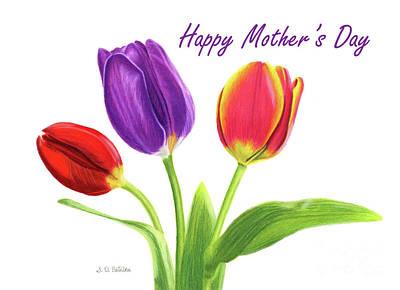 Tulip Trio- Happy Mother's Day Cards Original