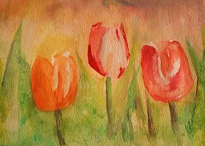 Painting - Tulip Triplets by Julie Lueders