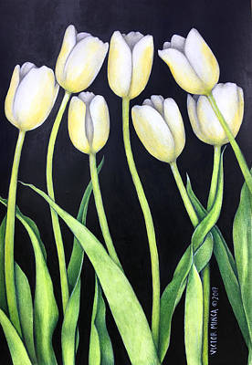 Painting - Tulip by Victor Minca