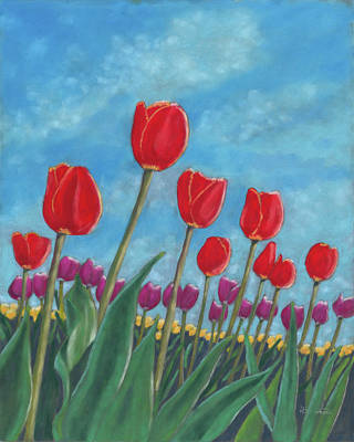 Pastel - Tulip View by Arlene Crafton