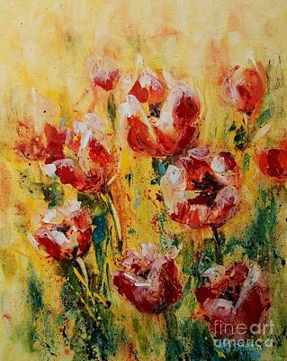 Painting - Tulip Waltz by Alla Dickson