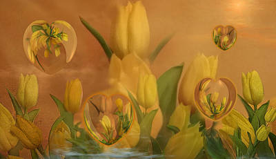 Coriolis Digital Art - Tulipa by Phil Sadler