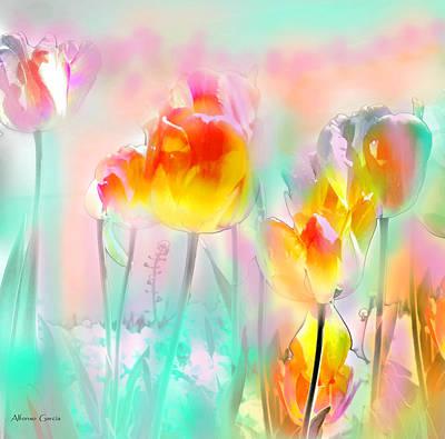 Digital Art - Tulipanes De Largo by Alfonso Garcia