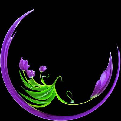 Digital Art - Tuliparc by Cyndy Doty