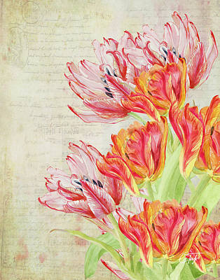 Mixed Media - Tulipes Du Jardin by Colleen Taylor