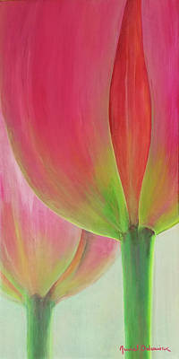 Painting - Tulipes En Couple by Muriel Dolemieux