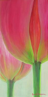 Painting - Tulipes En Couple by Muriel Dolemieux