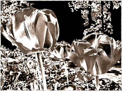 Digital Art - Tulipes Metalliques by Will Borden