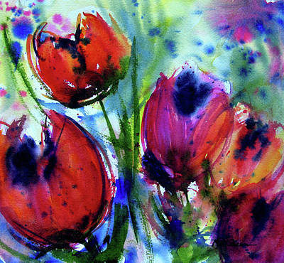 Tulips 1 Art Print by Marti Green