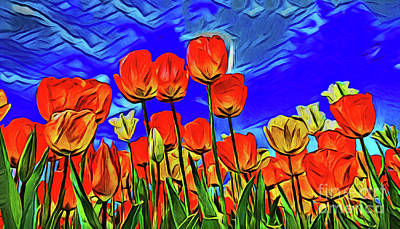 Photograph - Tulips 20818 by Ray Shrewsberry