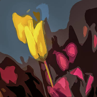 Photograph - Tulips Abstracted by Michael Arend