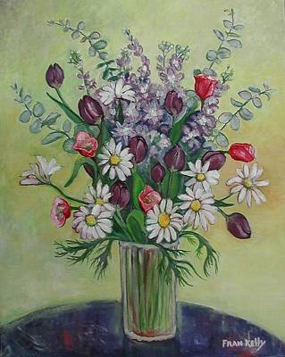 Painting - Tulips And Daisies by Fran Kelly