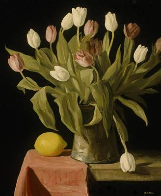 Painting - Tulips And Lemon by Robert Holden