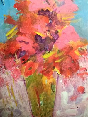 Painting - Tulips And Poppies by Nikki Dalton