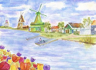 Painting - Tulips And Windmills by Jamie Frier