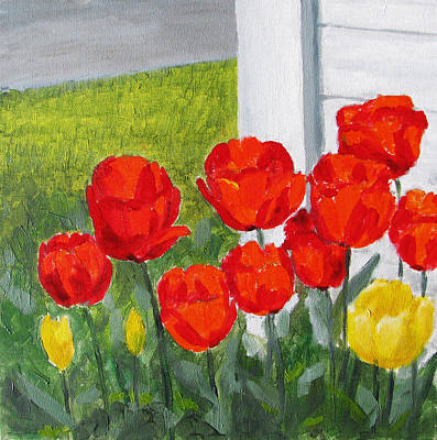 Floral Art Painting - Tulips by Angelina Sofronova
