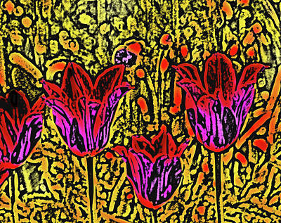 Abstract Digital Art Mixed Media - Tulips Are Tulips by Susanne Van Hulst