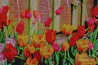 Photograph - Tulips At Fountain by Sandy Moulder