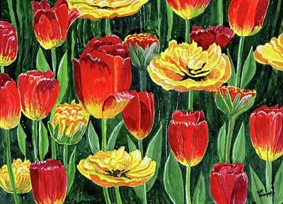 Longwood Gardens Painting - Tulips At Longwood Gardens by Jeff Blazejovsky
