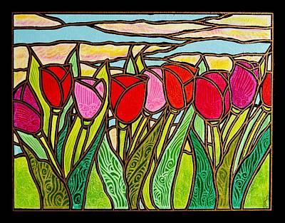 Tulips At Sunrise Print by Jim Harris